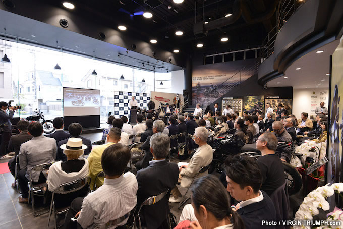 世界戦略フラッグシップストアー「トライアンフ東京」グランドオープニングセレモニー