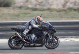 Moto2エンジンの公式サプライヤーとなるトライアンフの先行開発テスト車をインプレの画像