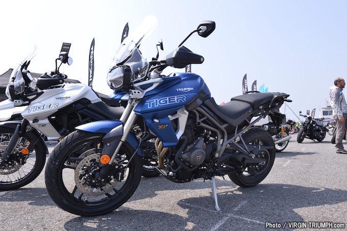 新型タイガーシリーズとスピードマスターの試乗車が用意された第4回JAIA輸入二輪車試乗会・展示会レポートの画像