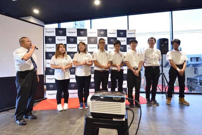 西日本の旗艦店「トライアンフ大阪」グランドオープンレポートの画像