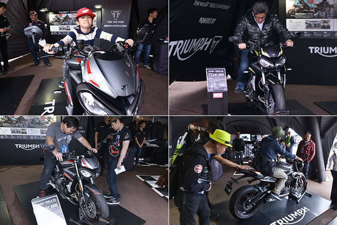 「MotoGP第16戦 MOTUL 日本グランプリ」でトライアンフのトリプルサウンドが響き渡る!の画像