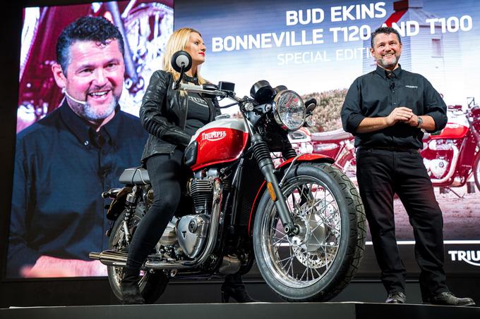 【EICMA2019レポート】「T120 Bud Ekins/T100 Bud Ekins Special Edition」に「THRUXTON RS」、「Bobber TFC」をワールドローンチ