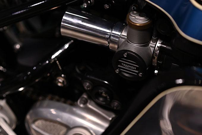 ト「ON THE ROAD'20~THE HIDE MOTORCYCLE Supported by NEUTRAL & RUDE GALLERY~」トライアンフのボンネビルボバーを宝石のようなカフェレーサーにカスタムの17画像