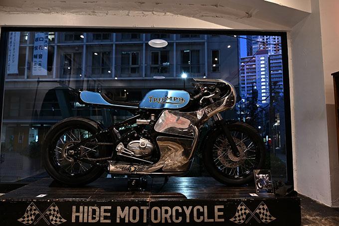 ト「ON THE ROAD'20~THE HIDE MOTORCYCLE Supported by NEUTRAL & RUDE GALLERY~」トライアンフのボンネビルボバーを宝石のようなカフェレーサーにカスタムの21画像