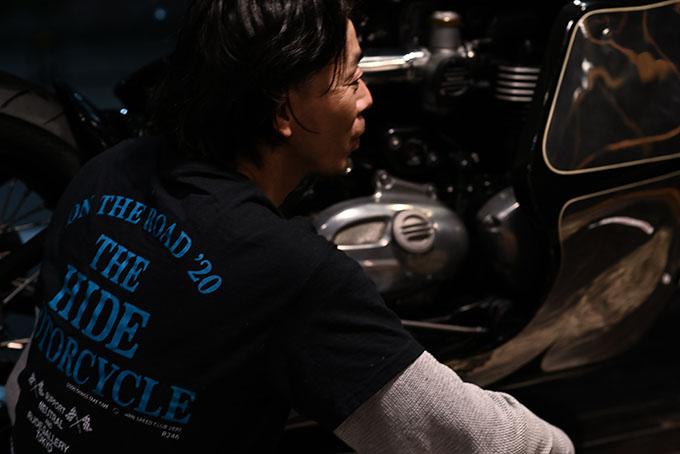 ト「ON THE ROAD'20~THE HIDE MOTORCYCLE Supported by NEUTRAL & RUDE GALLERY~」トライアンフのボンネビルボバーを宝石のようなカフェレーサーにカスタムの22画像