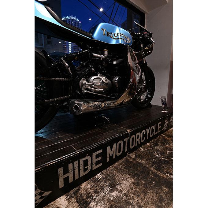 ト「ON THE ROAD'20~THE HIDE MOTORCYCLE Supported by NEUTRAL & RUDE GALLERY~」トライアンフのボンネビルボバーを宝石のようなカフェレーサーにカスタムの32画像