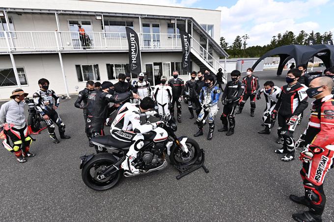 安全にスポーツライディングを楽しむためのサーキット講習会!「第4回 トライアンフ・ライディング・アカデミー(TRA)」 レポートの11画像