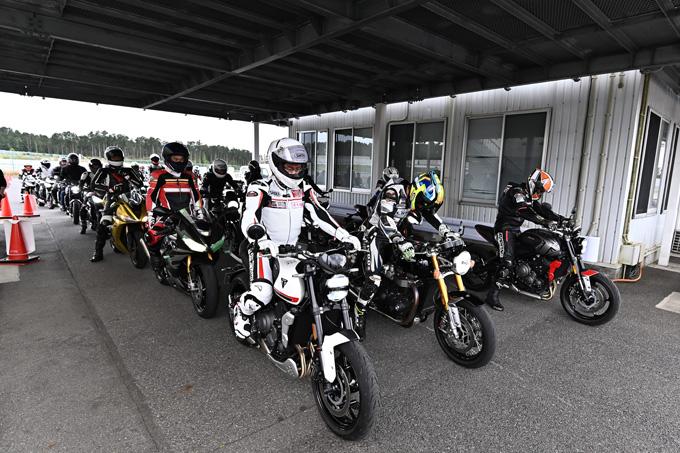 安全にスポーツライディングを楽しむためのサーキット講習会!「第4回 トライアンフ・ライディング・アカデミー(TRA)」 レポートの20画像